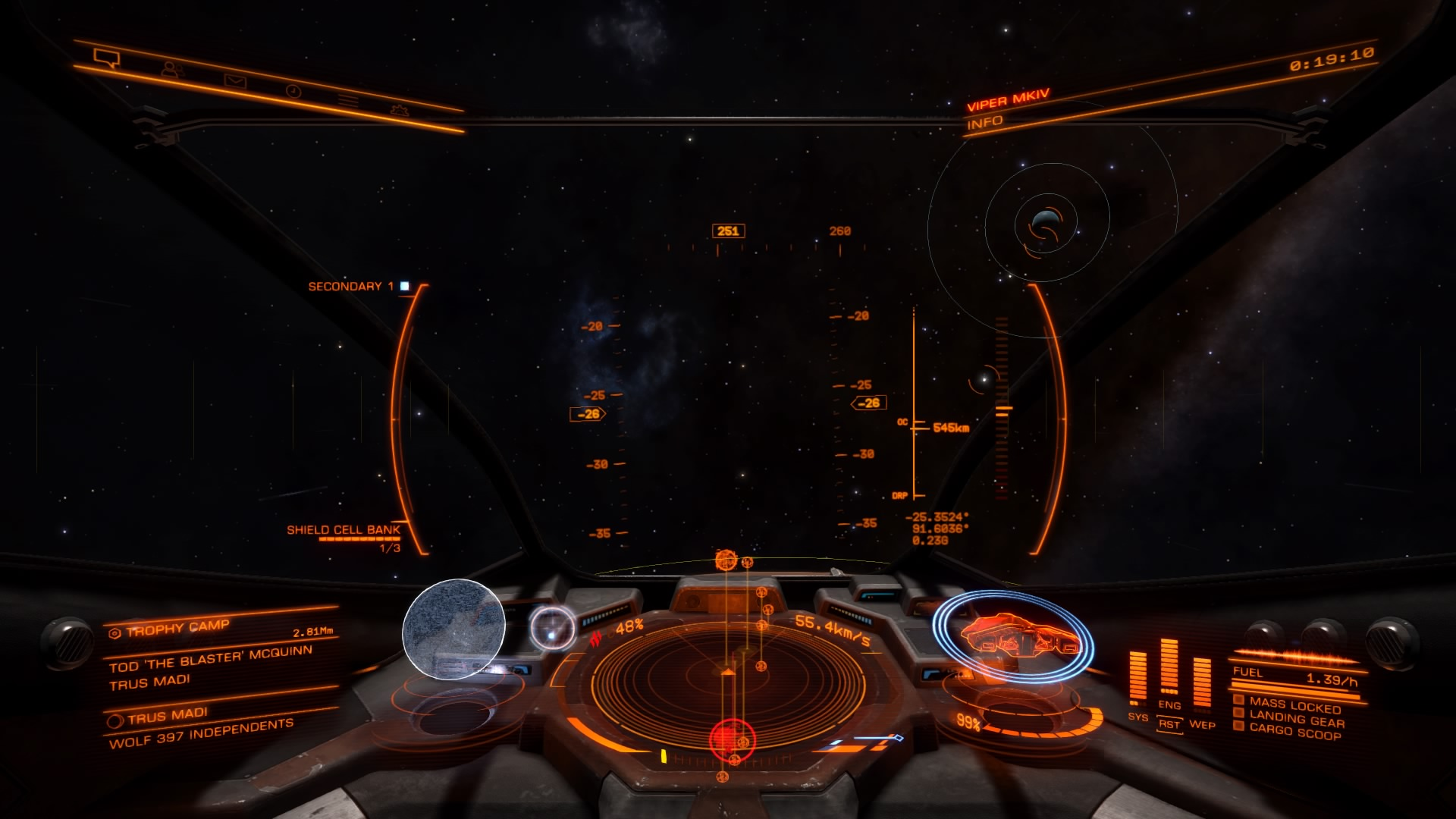 Elite Dangerous Viper Cockpit